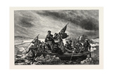 Washington Crossing the Delaware, from the Painting by Leutze, USA, 1870S Giclee Print