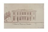 The Chateau De La Piscine, Near Montpellier, Drawn by Monsieur De Cenani (Pencil and Ink on Paper) Giclee Print