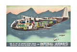Advertising Poster for the 'Flying Boats' of Imperial Airways, 1937 (Offset Colour Lithograph) Giclee Print
