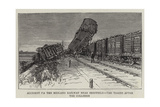 Accident on the Midland Railway Near Sheffield, the Trains after the Collision Giclee Print