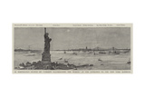 M Bartholdi's Statue of Liberty Illuminating the World, at the Entrance to the New York Harbour Giclee Print