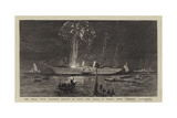 The Royal Yacht Squadron Regatta at Cowes, the Prince of Wales's Yacht Osborne Illuminated Giclee Print