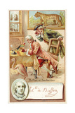 Georges-Louis Leclerc, Comte De Buffon, and Louis-Jean-Marie Daubenton, French Naturalists Giclee Print