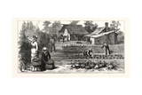 English Garden. Scenes Rugby, the English Colony Tennessee, 1880, USA, America Giclee Print