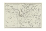 Map of Afghanistan and the Adjacent Territories of Russian Turkestan, Persia, and India Giclee Print