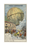 First Launch of a Hot Air Balloon by the Montgolfier Brothers, Annonay, France, 5 June 1783 Giclee Print