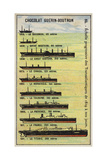 Progressive Increase in the Size of Transatlantic Ships from 1819 to 1911 Giclee Print