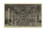 The Royal Silver Wedding at Stockholm, the White Sea Saloon in the Royal Palace Giclee Print