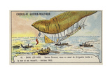 Santos-Dumont Being Rescued after His Airship Crashed into the Sea, Antibes, 1902 Giclee Print