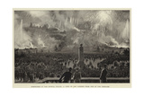 Fireworks at the Crystal Palace, a View of the Gardens from One of the Terraces Giclee Print