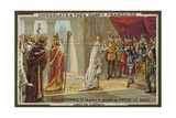 Pope Stephen II Asking Pepin the Short for His Help Against the Lombards Giclee Print