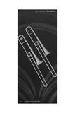 A Charles Gerard Conn Artist Model Trombone 4-H and Artist-Ballroom Trombone 24-H Giclee Print