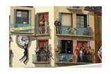 Trompe-L'Oeil on World Cinema Building, Cannes, Provence-Alpes-Cote D'Azur, France Giclee Print