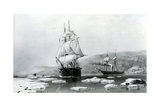 HMS Assistance and Pioneer Breaking Out of Winter Quarters in 1854 Giclee Print