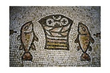 Loaves and Fish, Mosaic in the Church of the Multiplication, 4th Century, Tabgha, Israel Giclee Print