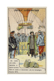 Gambetta and Spuller's Escape from the Siege of Paris by Balloon, October 1870 Giclee Print