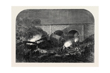 The Fatal Accident at New Mills on the Peak Forest Line of the Midland Railway Uk 1867 Giclee Print