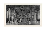 The Royal Silver Wedding at Stockholm: the White Sea Saloon in the Royal Palace Giclee Print