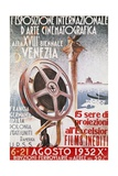 Poster for First Venice Film Festival for 18th Biennial of Venice, 1932, Italy, 20th Century Giclee Print