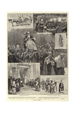 The End of the Holy Year in Rome, Pilgrims at the Holy Door in St Peter'S Giclee Print