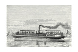 Steamboat Intended to Serve as a Ferry Service on the Seine During the Exposition 1867 (Propeller M Giclee Print