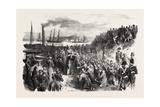 The Russian Prisoners and the Pope's Blessing at Toulon, France. 1855 Giclee Print