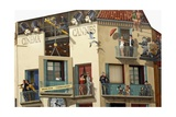 Human Figures on the World Cinema Building, Cannes, Provence-Alpes-Cote D'Azur, France Giclee Print