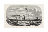 Alliance, Steamship, an Established New Service Between Le Havre and Southampton. 1855 Giclee Print