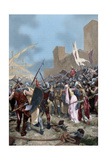 Boarding in Salou of James I of Aragon (1208-1276) to Conquer Majorca, 1229 Giclee Print