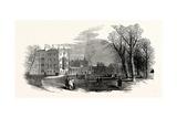 The Cambridge Chancellorship Election: St. John's College (Earl Powis'S) from the Garden, UK, 1847 Giclee Print