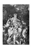 Group of Cupids. by Knesing. Reproduces a Painting by Hans Makart (1840-1884) Giclee Print