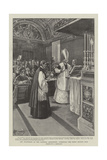 The Pilgrimage of the Catholic Association, Attending the Pope's Private Mass Giclee Print