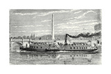 Steamboat Intended to Serve as a Ferry Service on the Seine During the Universal Exposition 1867 (M Giclee Print