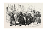 Boulogne Fishwomen Carrying the Luggage of the Nurses for the East 1854 Giclee Print