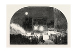 Fireworks at Birr Castle, Parsonstown, the Seat of the Earl of Rosse, Ireland, County Offaly, 1851 Giclee Print