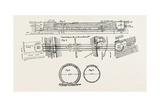 Technical Drawing of the Tunnel under the River Clyde at Glasgow, UK, 1890 Giclee Print