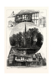 Stratford Church, and Shakespeare's House, Stratford Upon Avon, Stratford-Upon-Avon, Uk Giclee Print