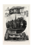 Stratford Church, and Shakespeare's House, as it Was and as it Is, UK, 19th Century Giclee Print