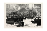 The Prince of Wales in Sweden, the Return of the Yachts after the Regatta Near Stockholm, Sweden Giclee Print