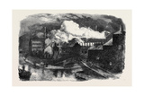 Destruction by Fire of Messrs. Hine and Mundella's Hosiery Factory at Nottingham Giclee Print