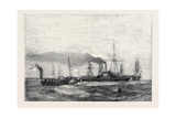 Russian Steamboat, with a Flag of Truce Bringing Despatches for Admiral Dundas Giclee Print
