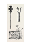 Cross Used in Celebrating the Sacrament Cymbals Used in Processions Bells of Musical Stone 1868 Giclee Print