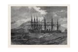 Collision Between H.M.S. Northumberland and H.M.S. Hercules at Madeira 1873 Giclee Print