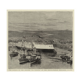 The Launch of the Cruiser La Vizcaya at the Anglo-Spanish Shipyards, Bilbao Giclee Print