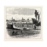 The Russian Expedition to Khiva, Views in the City: General View of the Town, Uzbekistan, 1873 Giclee Print