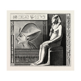 Portrait Statue and Relief of the Fanatical King Amenophis Iv. Egypt, 1879 Giclee Print
