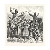 The Turko Servian War, Circassians Carying Off Bulgarian Women and Children, 1876, Turkey, Serbia Giclee Print