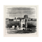 The Russian Expedition to Khiva, Views in the City: the Khan's Palace, Uzbekistan, 1873 Giclee Print
