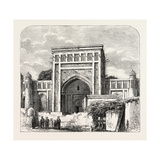 The Russian Expedition to Khiva, Views in the City: the School Rachim-Berbi-Bia, Uzbekistan, 1873 Giclee Print