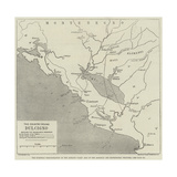 The European Demonstration on the Adriatic Coast, Map of the Albanian and Montenegrin Frontier Giclee Print